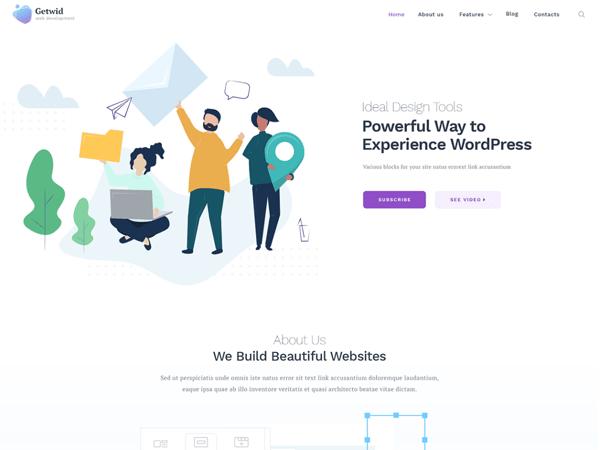 Getwid Foundation is a free multipurpose WordPress theme