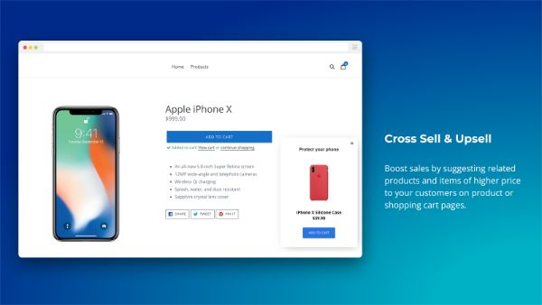 Cross sell, Exit & Email Popup