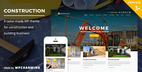 best WordPress construction theme