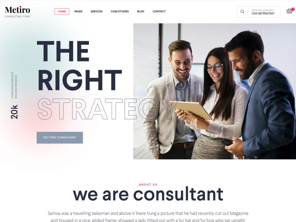 Metiro - Business Consulting Bootstrap 5 Template | RTL Supported